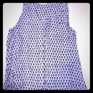 Rebecca Taylor sleeveless blouse print small